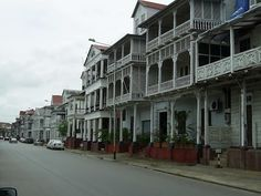 Suriname, just a street in Paramaribo Our Country, South America, To Go, Street View, City, Awesome, Places, Travelling, Lugares