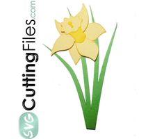 Free freebees gratis download SVG file and or scut file scrapbook paperpierciering Narcis flower