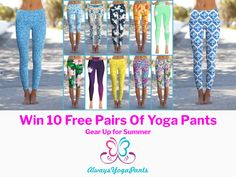 WIN 10 FREE PAIRS OF YOGA PANTS  http://vy.tc/f6mOQ16 💜💛💚 #SWEEPSTAKES