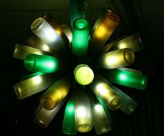 wine bottle chandelier. Liz I found another wine bottle craft for you