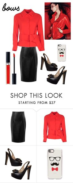 """Put a Bow on It"" by kotnourka ❤ liked on Polyvore featuring L'Autre Chose, Valentino, Casetify and Christian Dior"
