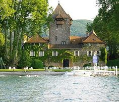 This is one of my favorite hotels in France. It is Chateau de Coudree in Sciez on Lake Geneva. About 20 minutes from Evian. The rooms are unbelievable. Stay in the turet room, you will feel like Cinderella.