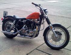 1977 Harley Davidson Ironhead Sportster Motorbike by Ralf Ironhead Sportster, Sportster Motorcycle, Motorcycle Gear, Best Bike Shorts, Motos Harley Davidson, Dirt Bikes, My Ride, Cool Bikes, Motorbikes