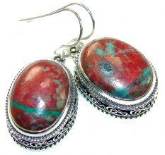 Love Power!! Red Sonora Jasper Sterling Silver Earrings