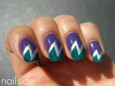 Today's Daily Nail Art is this lightning bolt design by nailside.