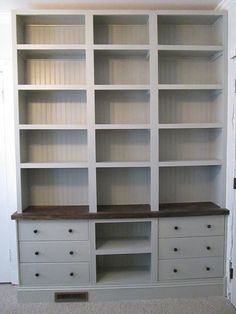 Can you believe it's IKEA? Built-in Bookshelves with RAST drawer base - IKEA Hackers: