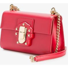 Dolce & Gabbana Lucia Crossbody Bag (120.110 RUB) ❤ liked on Polyvore featuring bags, handbags, shoulder bags, red bags, chain shoulder bag, miniature purse, mini bags and mini handbags