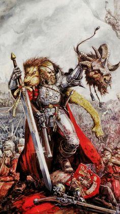 Fantasy Battle, Fantasy Armor, Medieval Fantasy, Dark Fantasy, Fantasy Concept Art, Fantasy Character Design, Warhammer Empire, Warhammer Fantasy Roleplay, Imperium