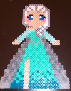 Elsa Frozen perler beads by Bonus Life