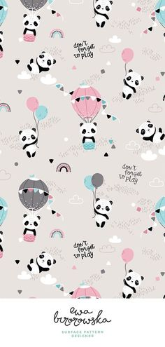 Don't forget to play - playful pandas nursery gender neutral textile pattern des. Panda Wallpaper Iphone, Cute Panda Wallpaper, Bear Wallpaper, Cute Disney Wallpaper, Kawaii Wallpaper, Cute Wallpaper Backgrounds, Galaxy Wallpaper, Fabric Wallpaper, Iphone Backgrounds