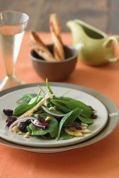 ... Salad with Bosc Pears, Cranberries, Red Onion, and Toasted Hazelnuts