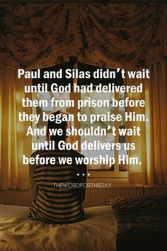 At midnight Paul and Silas were praying and singing hymns to God…Suddenly there was a great earthquake, so that the foundations of the prison were shaken; and immediately all the doors were opened and everyone's chains were loosed. Scripture Quotes, Faith Quotes, Bible Verses, Prayer Scriptures, Biblical Quotes, Praise And Worship, Praise God, Worship Quotes, Christian Life