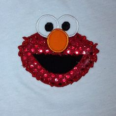 Elmo, with sequins!