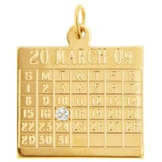 Birthday Charms |Gold Birthday Charms | Birthday Charm for Bracelets