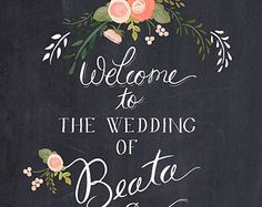 Personalized Wedding Wall Mounted Chalkboard is the perfect display to welcome guests, adorn photo ops and use in table decoration. Printed with a soft yet charming floral design, this wedding signage featu Wedding Welcome Signs, Wedding Signs, Wedding Favors, Wedding Decor, Party Favors, Wedding Reception, Chalkboard Wedding, Chalkboard Signs, Wedding Wows