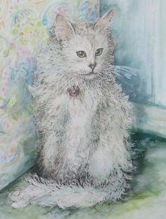 Poised Cat by Kim Tran