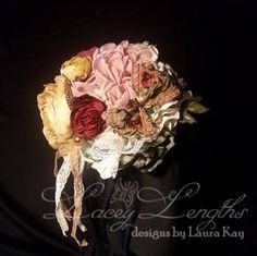 Victorian Roses headband by LaceyLengths on Etsy