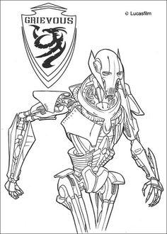 General Grievous coloring page
