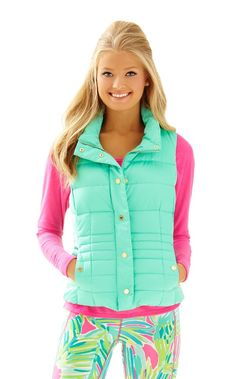 Isabelle Puffer Vest - Lilly Pulitzer Black