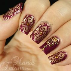 Traditional Indian Bridal Nail Art Designs For Wedding