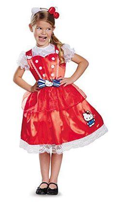 Disguise Authentic Deluxe Hello Kitty Sanrio Costume, Medium/7-8