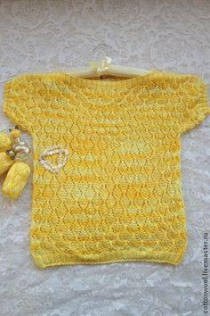 Топы ручной работы. Ярмарка Мастеров - ручная работа Ажурный топ из хлопка желтого цвета. Handmade.