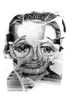 Colagem Retratos de Ilustração Servido