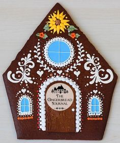The Harvest House – a Gingerbread Thanksgiving – The Gingerbread Journal Gingerbread House Patterns, Gingerbread Decorations, Christmas Gingerbread House, Gingerbread Houses, Christmas Crafts, Christmas Decorations, Xmas, Christmas Stuff, Gingerbread Cookies