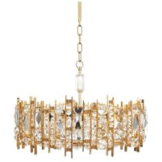 Gilt Brass and Crystal Glass Chandelier by Lobmeyr | From a unique collection of antique and modern chandeliers and pendants at https://www.1stdibs.com/furniture/lighting/chandeliers-pendant-lights/