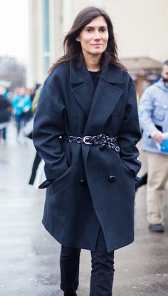 Belt your coat for a fitted and chic look