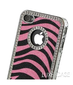 Zebra Print iPhone Cases for Girls | ... Pink Zebra Rhinestone iPhone 4 Case | Animal Print iPhone 4 Cases