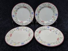 "Johnson Brothers Summer Chintz Bread Plates 6 1/4"" FOUR Excellent! #JohnsonBros"