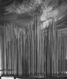 Harry Bertoia, Sculptured Fountain for River Oaks Shopping Center, Calumet City, Illinois Sound Sculpture, Sculptures, Calumet City, Harry Bertoia, Ceiling Installation, Spirited Art, Do You Remember, Old Pictures, Illinois