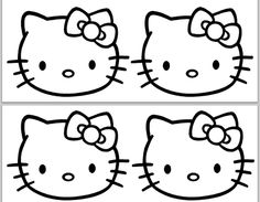 Defrump Me: Hello Kitty Party continued {FREE Printables!} - for kids to color favor bags. Hello Kitty Themes, Hello Kitty Cake, Kitty Party, Hello Kitty Birthday Party Ideas, Birthday Ideas, Hello Kitty Colouring Pages, Coloring Pages, Anniversaire Hello Kitty, Hello Kitty Baby Shower