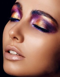 Colorful #eyeshadow #makeup and #naturalwaves #hair #accessory - for more #beauty #look, MyBeautyCompare Pinterest #contour #bronzer #eyeliner #eyes #lips #shadows #brows #ponytail #bbloggers #face #chic #amazing #perfect #stunning #pretty #chic #glam #flawless #posh #formal #brighten #idea #inspiration