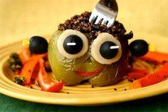 Monster Stuffed Peppers #halloween2012