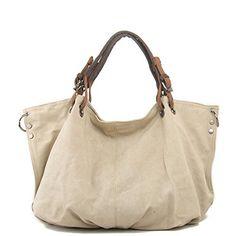 Tom Clovers Summer New Womens Classy Look Canvas Oversized Vintage Hobo Simple Style Top Handle Genuine Leather Tote Handbag Shoulder Weekender Crossbody Bag Beige Tom Clovers http://www.amazon.com/dp/B00W3CGNUY/ref=cm_sw_r_pi_dp_OVdSvb1K0R47S