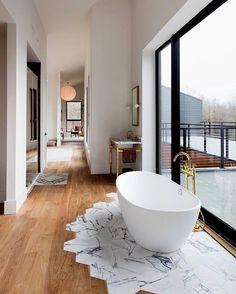 "19 Likes, 1 Comments - Interior Banana  (@interiorbanana) on Instagram: ""Parke ve mermerin birleşimi #marble #parquet #tiled #floor #floortile"""