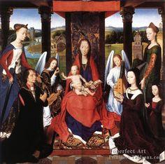 8 la Donne Triptyque 1475detail2central Panneau Religieux Neerlandais peintre Hans Memling