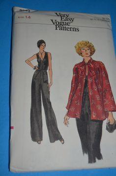 Vintage 70s Vogue 9253 Misses Jumpsuit and by DestinedRendezvous