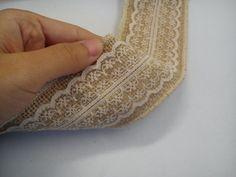 ivory burlap ribbon hessian ribbon jute lace by Interchainge1