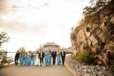 Blue Bridesmaids dresses    Touchstone on Lake Muskoka Resort Wedding – Adrienne & Rob