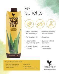 Drink in the benefits of Forever Aloe Vera Gel®. Our aloe vera drinking gel is made of pure inner leaf aloe with no preservatives for an experience as close to nature as you can get! Aloe Vera Gel Forever, Forever Living Aloe Vera, Aloe Drink, Drink Rum, Forever Living Business, Nutrition Sportive, Gel Aloe, In Natura, Turmeric Tea