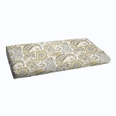 Shop for Grey Gold Paisley Indoor/ Outdoor Bristol Bench Cushion. Get free delivery at Overstock.com - Your Online Garden