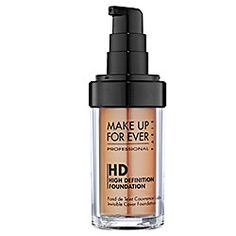 MAKE UP FOR EVER - HD Invisible Cover Foundation. in 170  caramel. described for medium skin with dark yellow undertones