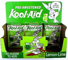 Kool-Aid  Lemon-Lime, my favorite.  Hard flavor to find then and now