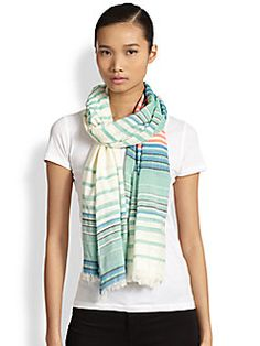 Marc by Marc Jacobs Paradise Striped Scarf Information