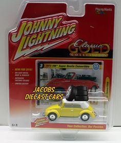 "1:64  JOHNNY LIGHTNING CLASSIC GOLD Release 1 ""B"" 1975 VW SUPER BEETLE CONVERT #JohnnyLightning #Volkswagen"
