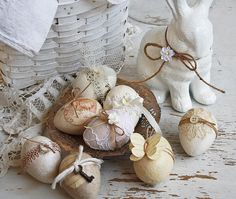 Decorated spring eggs by bailiwickdesigns, via Flickr
