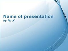 Blue Curly Powerpoint Template